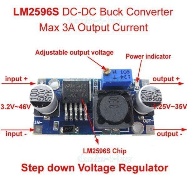 LM2596s step down voltage regulator