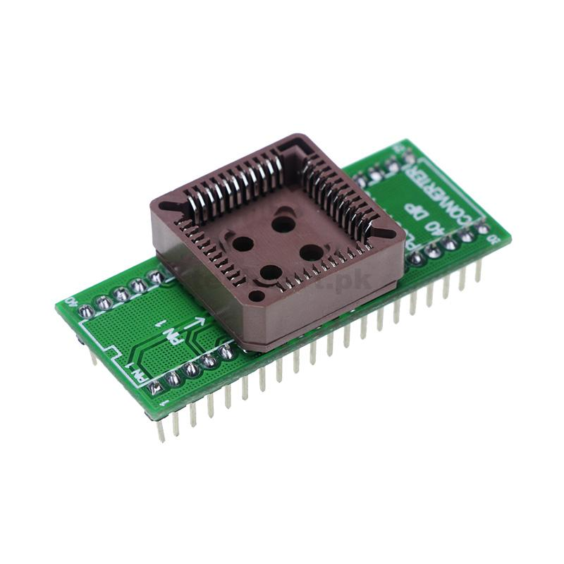 PLCC44 to DIP40 EZ USB Programmer IC Adapter