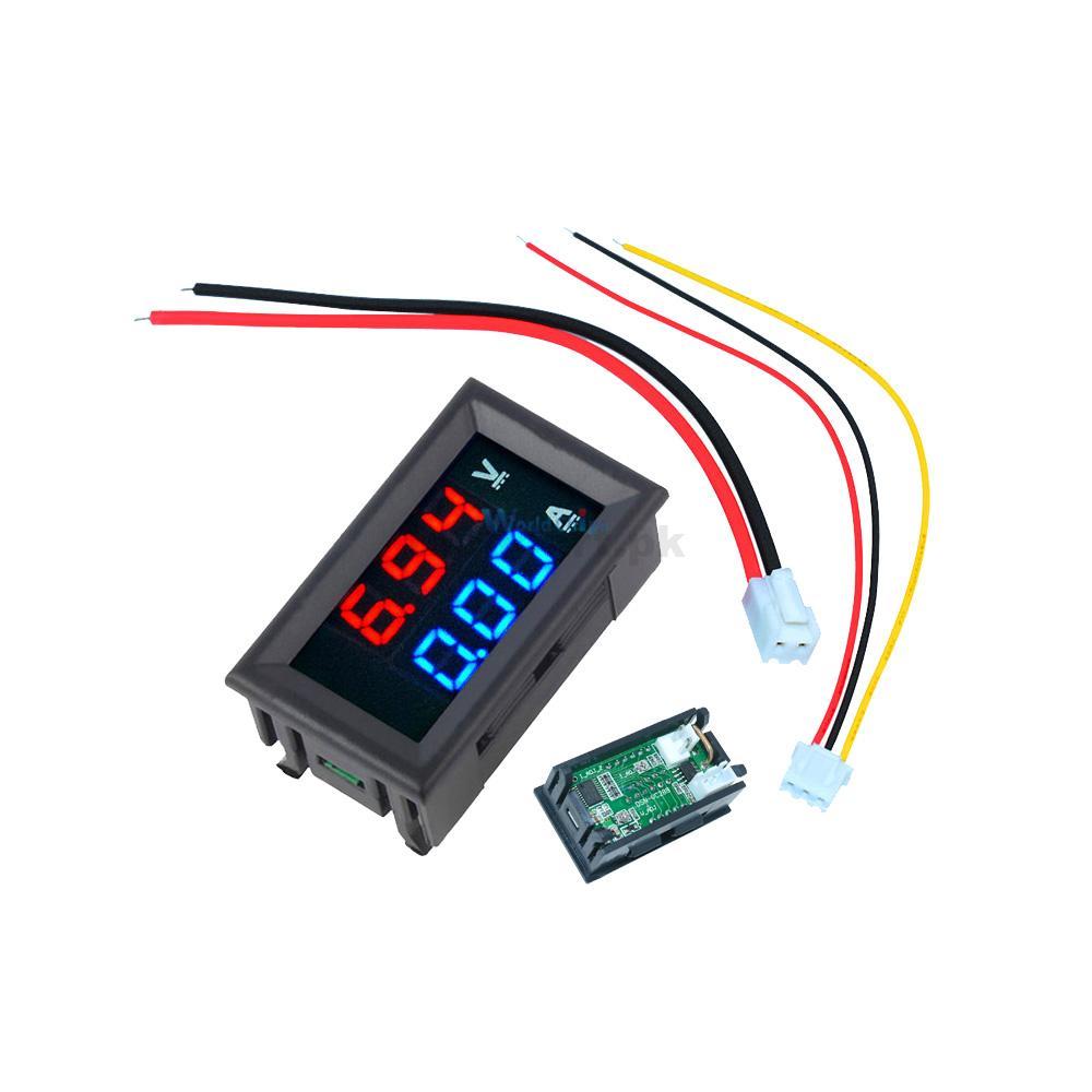 Mini Digital Voltmeter Ammeter DC 100V 10A