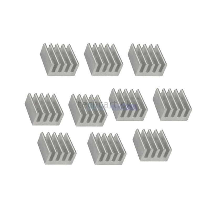 10Pcs Aluminium Heat Sink 8 8 x 8 8 x 5mm