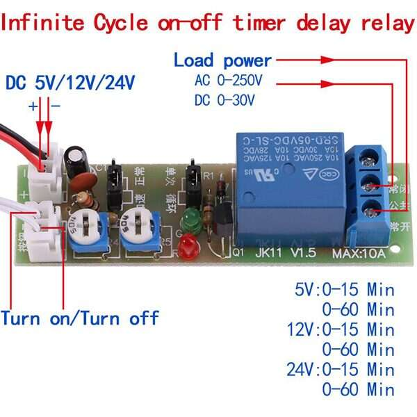 infinite cycle relay switch