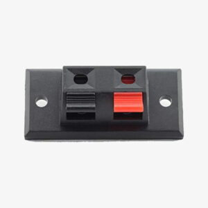 Terminal Speaker Connector Plate 2 Way Spring Push Release