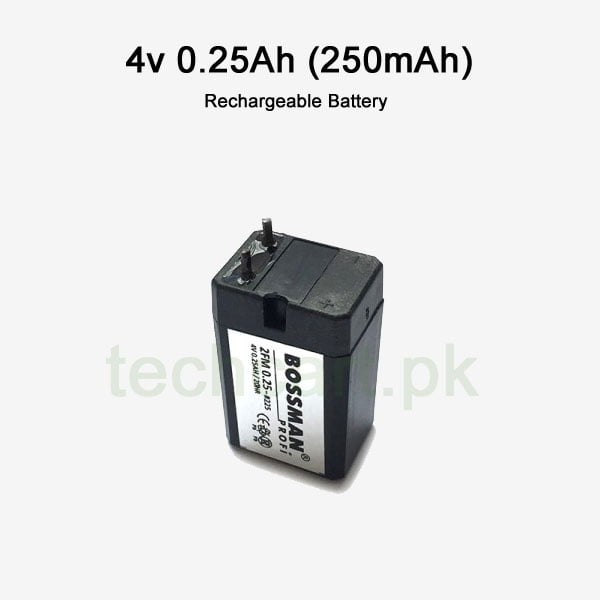 4v 0.25ah 250mah rechargeable lead acid battery